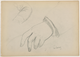 Drawing, George D. Seney, Hand and Arm study; Verso: Left Foot, 1881