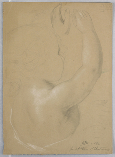 "Drawing, Study for a Duplicate of ""Repitition of Christiana"", 1850"