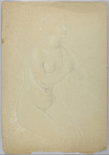 """Drawing, Study for """"A Magdalen"""", F, 1852"""