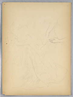 Drawing, Sketches for Portrait of Mrs. M. O. Roberts