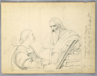 Drawing, Drawing for The Sacred Lesson, 1844