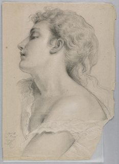 "Drawing, Study for ""Justice and Pe, 1878"