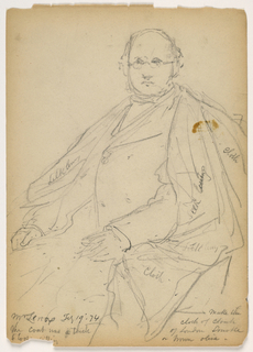 Drawing, James Lenox Seated, February 19, 1874