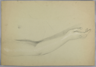 """Drawing, Study for Duplicate of """"C, 1850"""