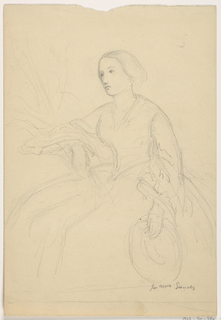 Drawing, Mrs. Sheppard Gandy Seated; Verso: Mrs Sheppard Gandy Seated, 1859