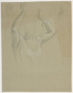 Drawing, Woman With Hands Raised A, 1844–45