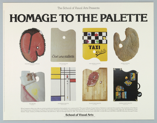 Poster, School of Visual Arts, Homage to the Palette, 1980