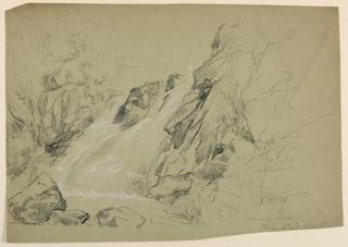 Drawing, Waterfall