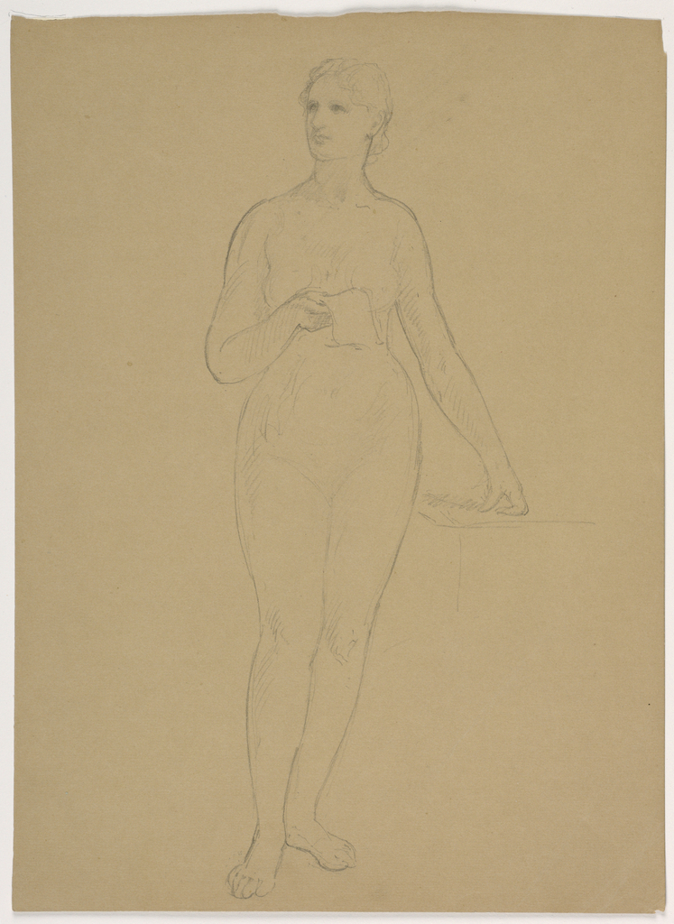 Drawing, Female Nude Standing, 1850–60