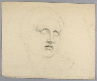Drawing, Study of Mark Anthony from a Statue, 1840