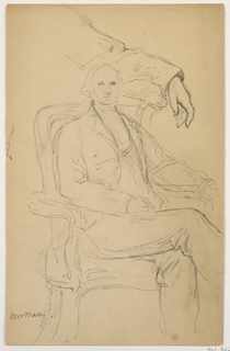 Drawing, William H. Macy Seated, Separated Left Arm Study, 1884