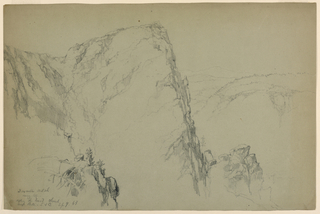 Drawing, Dixville Notch, Near the Top