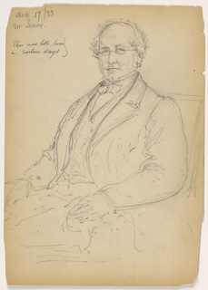 Drawing, James Lenox Seated; Verso: Mr. johnson Standing, 1893