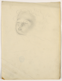 Drawing, Child Sleeping, 1840–45