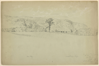 Drawing, View from Thompson's Hotel, North Conway, New Hampshire