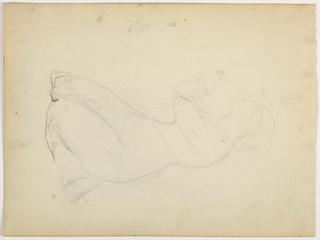 Drawing, Woman Kneeling, ca. 1852