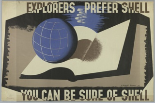 Poster, Explorers Prefer Shell, You Can Be Sure of Shell, 1933