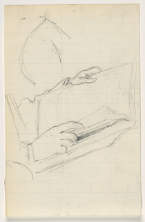 Drawing, Hands Holding open Book, 1879–86