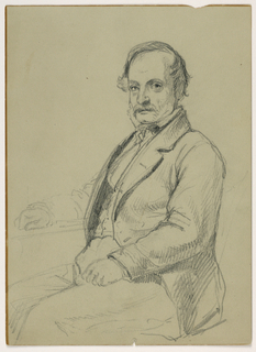 Drawing, Man Seated, ca. 1860