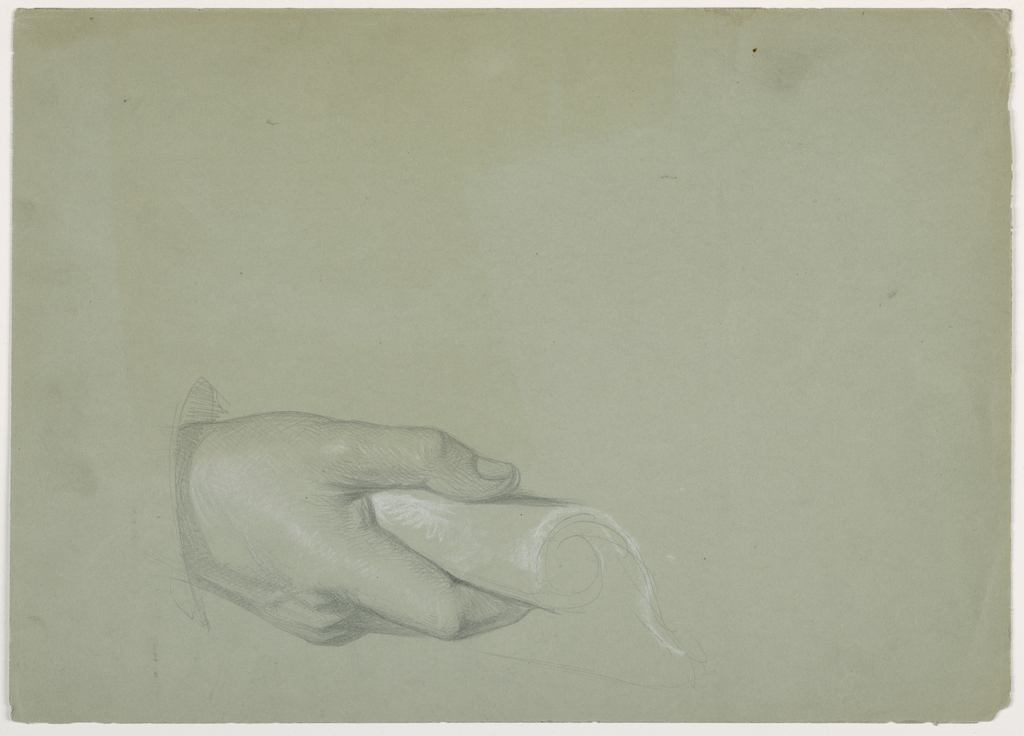 """Drawing, Study for """"Tribute Money"""", 1852"""