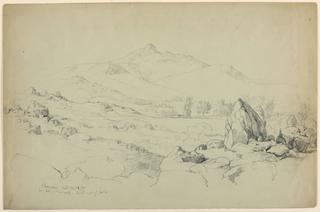 Drawing, Mt. Chicorua from Hill Near Tamworth
