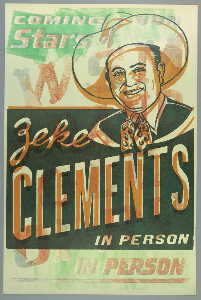 Poster, Zeke Clements in Person, ca. 1980–95