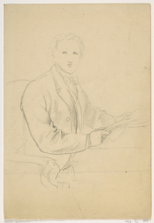 Drawing, Man Seated at Desk
