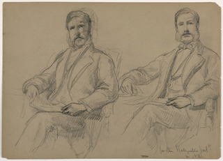Drawing, Julius Hallgarten Seated, Two Studies; Verso: Mr. Hunt Standing, 1884