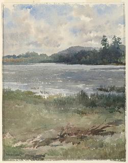 Drawing, Lakeside Landscape