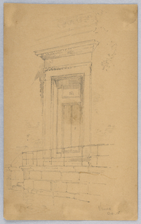 Sketch of door and doorway.