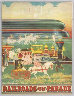 Souvenir. Program published by the Railroads exhibition, New York World's Fair, showing murals by Coale.