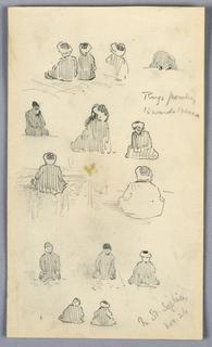Drawing, Pilgrims at St. Sophia