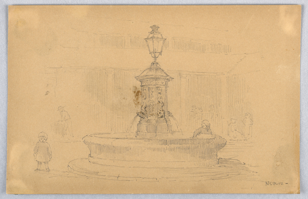 Drawing, Fountain at Nevers