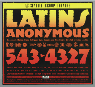 Poster, Latins Anonymous