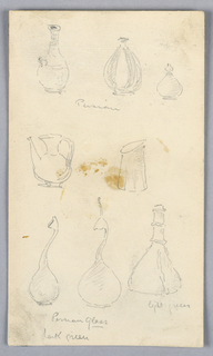 Drawing, Pottery and Glass