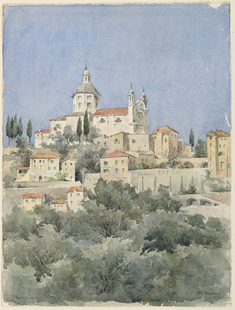 Drawing, Church on a Hill