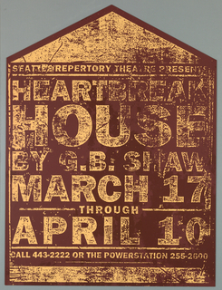 Poster, Heartbreak House