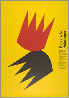 Poster, Baryerische Staatsoper:  Rodelinda/ Regina de Longobardi, Georg Friererich Handel