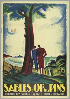 Poster, Sables d'Or Les Pins, ca. 1925