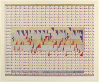 """Mutlicolored drawing of transcription of """"Cradle Song"""" by Brahms."""