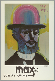 Poster, Max at the Odyssey Gallery, 1977