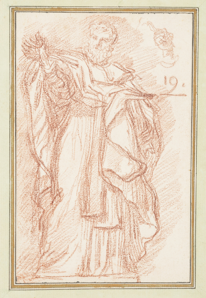 Drawing, St. Nicholas of Bari from colonnade of St. Peter's
