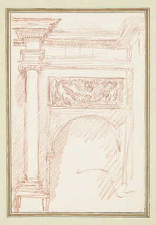 Drawing, Renaissance architectural detail