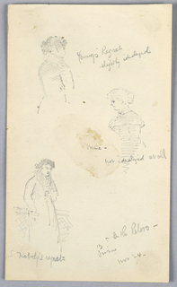 Drawing, Three Sketches of Women in Pireus