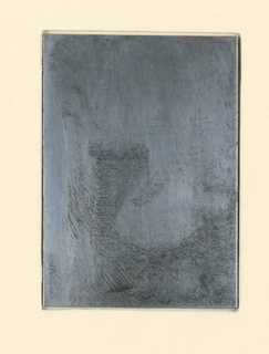 Etched zinc plate from which 1957-122-155-a was pulled.