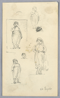 Drawing, Sketches of Children at Eyub