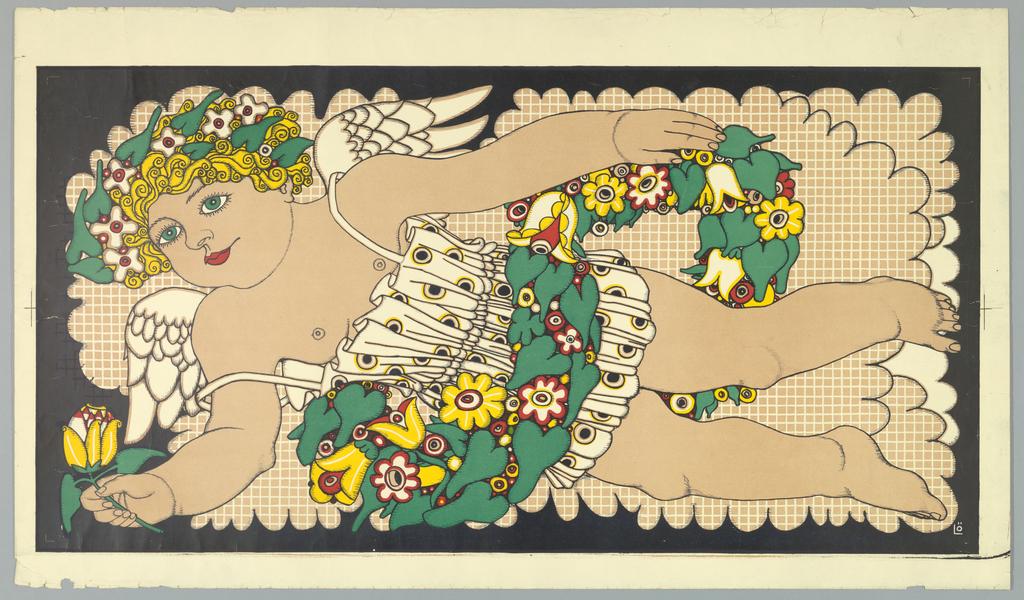 Poster, Fliegender Putto, 1913