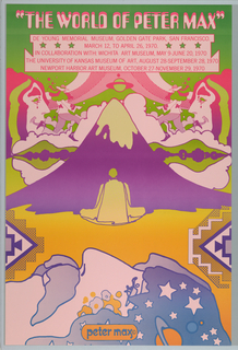 Poster, The World of Peter Max, DeYoung Memorial Museum, San Francisco, 1970