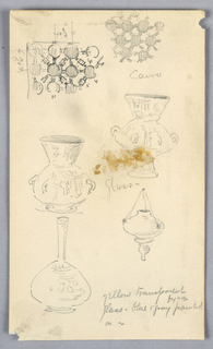 Drawing, Sketches of Decorative Details from Cairo