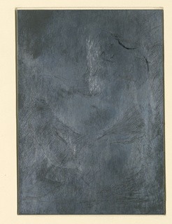 Etched zinc plate from which 1957-122-111-a was pulled.